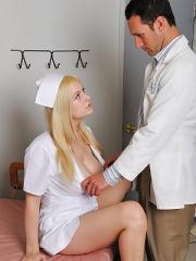 Danielle nurse masturbate with toy